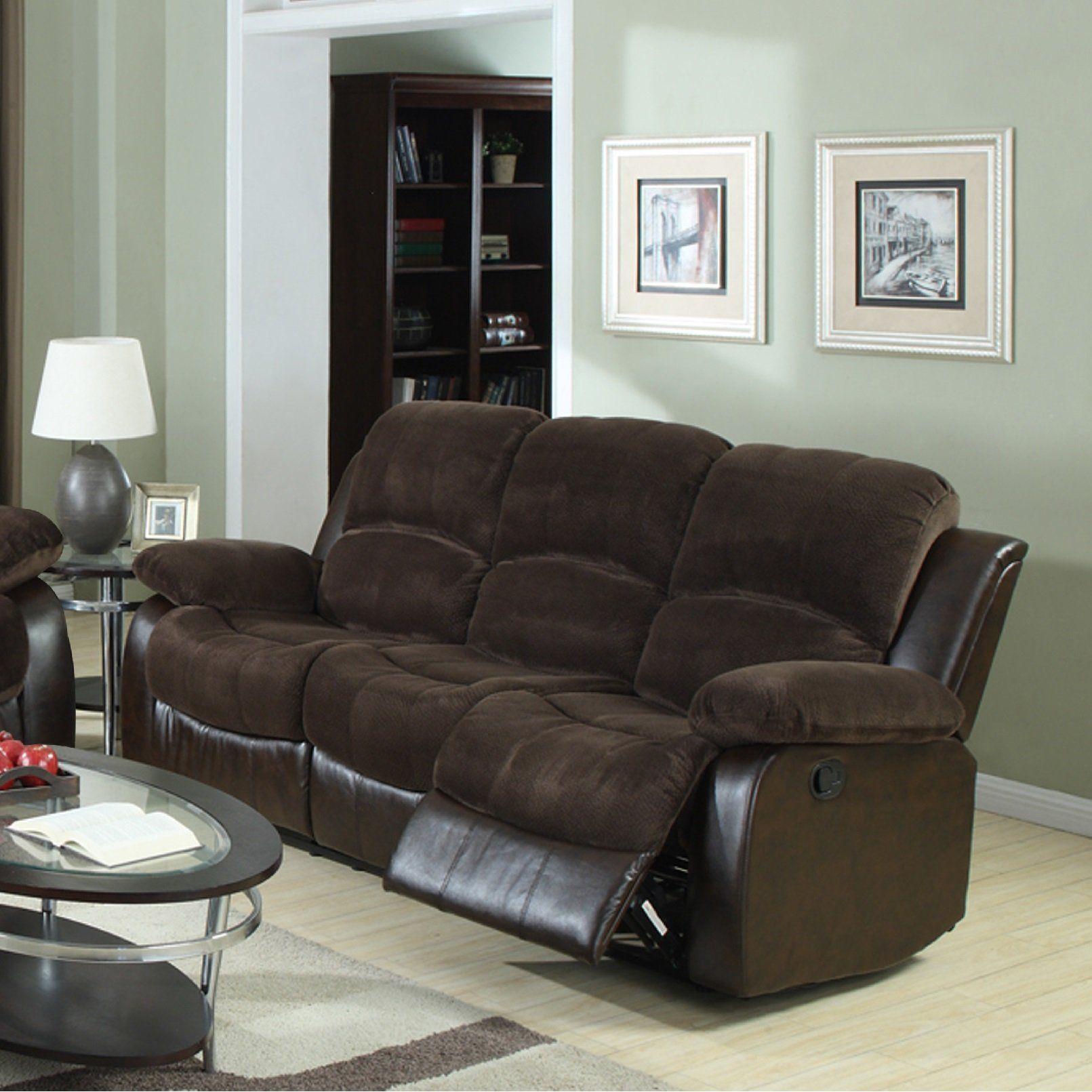 Furnituremaxx Chocolate Chaimpin Microfiber Double