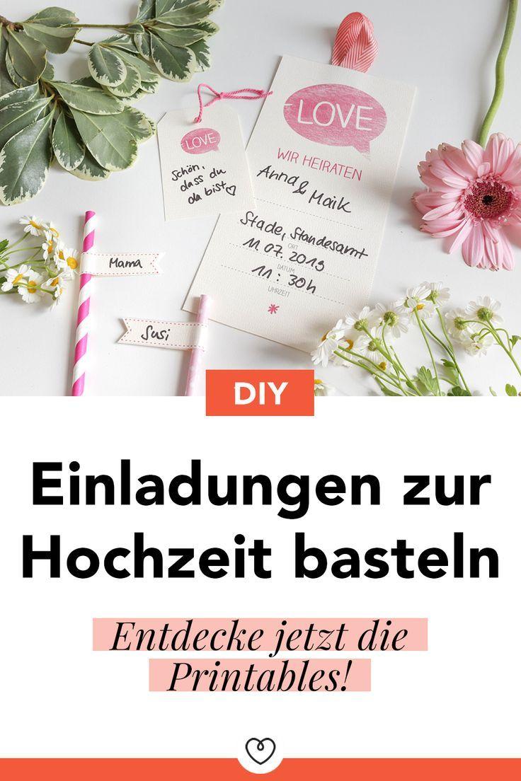 diy: einladungskarten und deko zur hochzeit - wohnklamotte