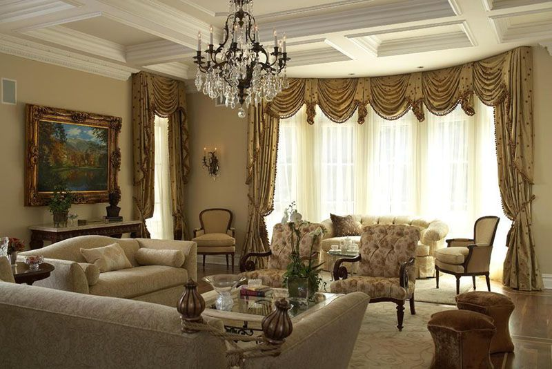 Design Concepts/Interiors Features Traditional Living Room With Coffered  Ceiling Part 78