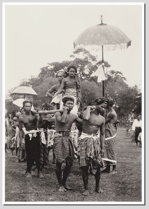 Wedding ceremony in Buleleng, Bali, Indonesia, 1930s, photographer unknown.