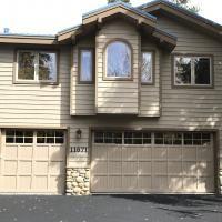 Garage Door Photo 14 Martin Pinnacle V Groove Light Almond Truckeedoor.com  Truckee Overhead