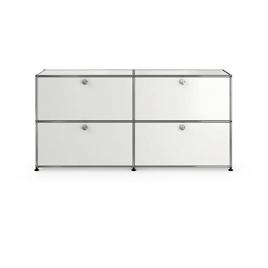 Sideboard W / D / H: 1523/373/740 mm Drop Down Door x4 Pure White