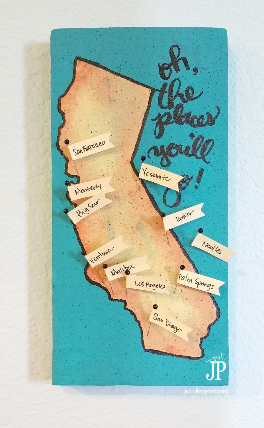Easy Diy Travel Map You Can Make In 1 Hour With Images Travel Map Diy