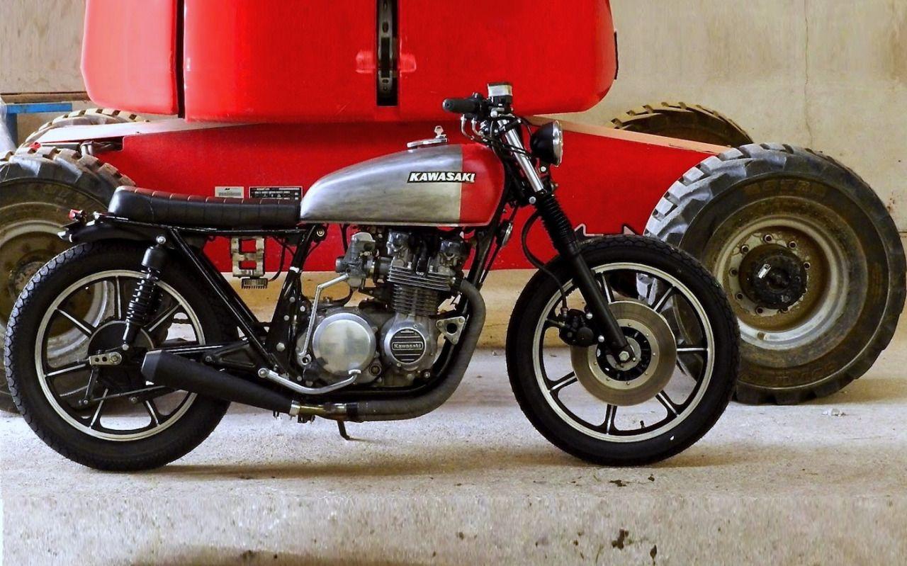 Cafe Racer Pasion Kawasaki Z650 Brat Style By Mvill Moto