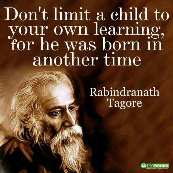 don t limit your child to your own learning for he was born in