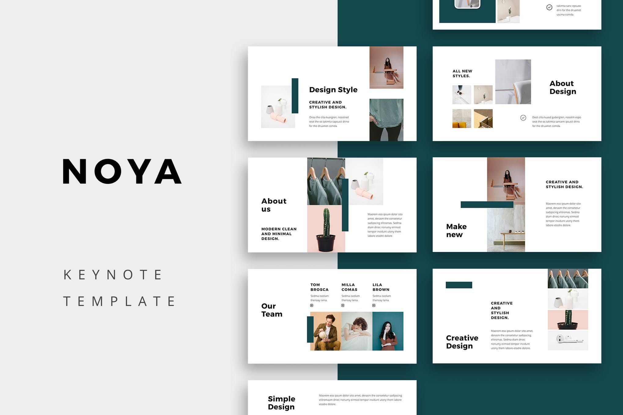 NOYA Keynote Template by Pixasquare on Simple