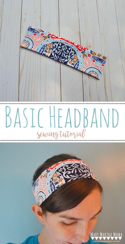 Basic Headband Tutorial – Mary Martha Mama- how to sew a headband using knit fabric scraps