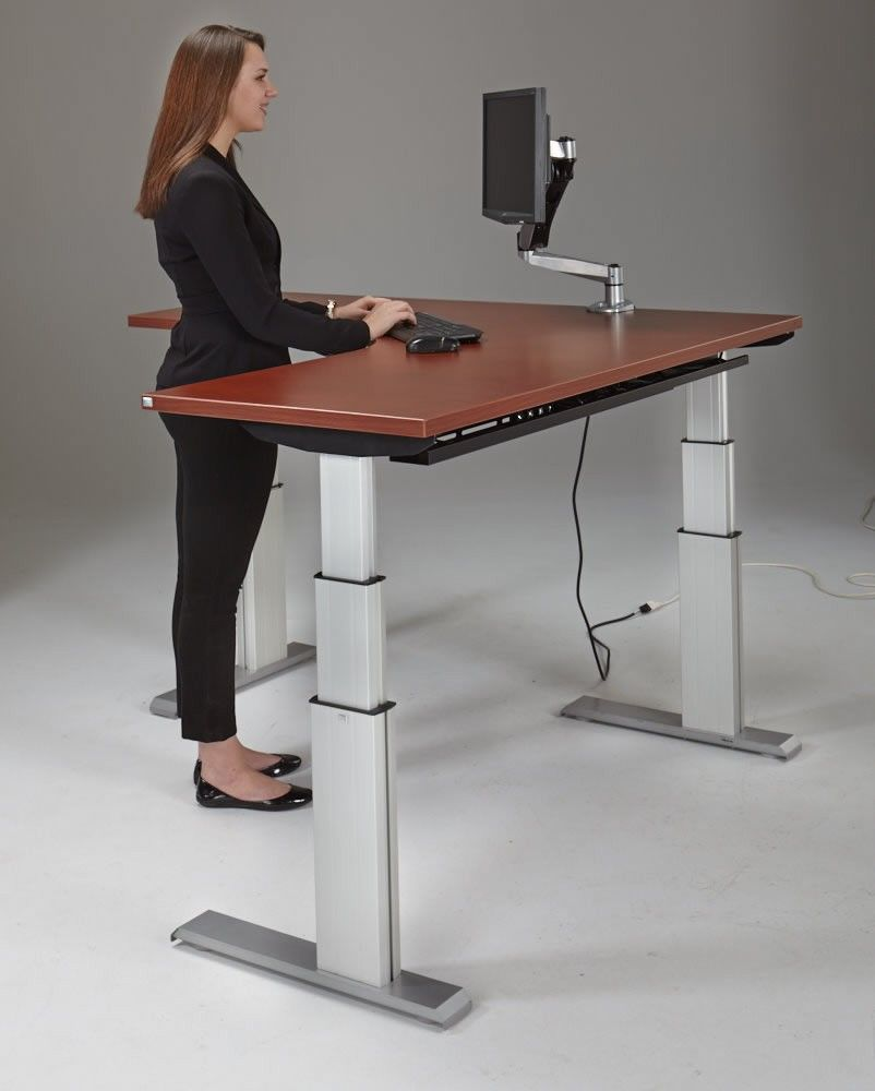 NewHeights Corner Height Adjustable Standing Desk Work