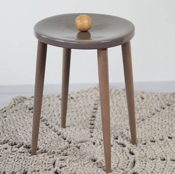 Gray modern stool Minimalist Stool Handmade Wooden Stool & Gray modern stool Minimalist Stool Handmade Wooden Stool | Etsy ... islam-shia.org