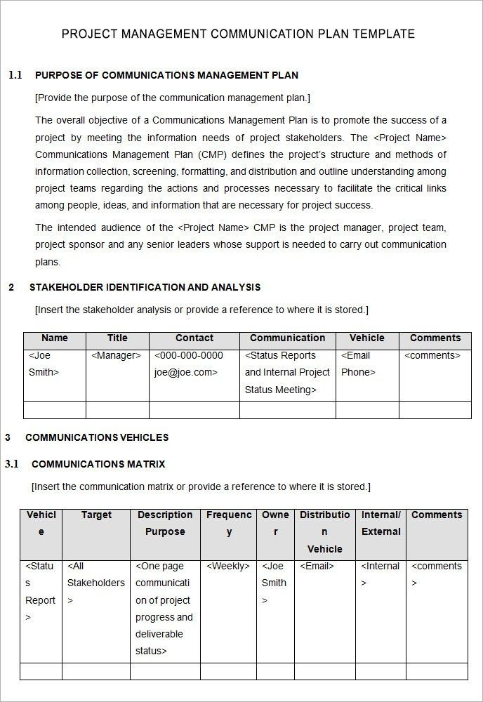 project management template project management