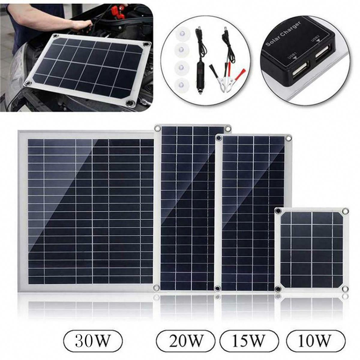 10w 15w 20w 30w 18v Dc Flexible Polycrystalline Solar Panel With Usb Connect In 2020 Solar Charger Solar Panels Flexible Solar Panels