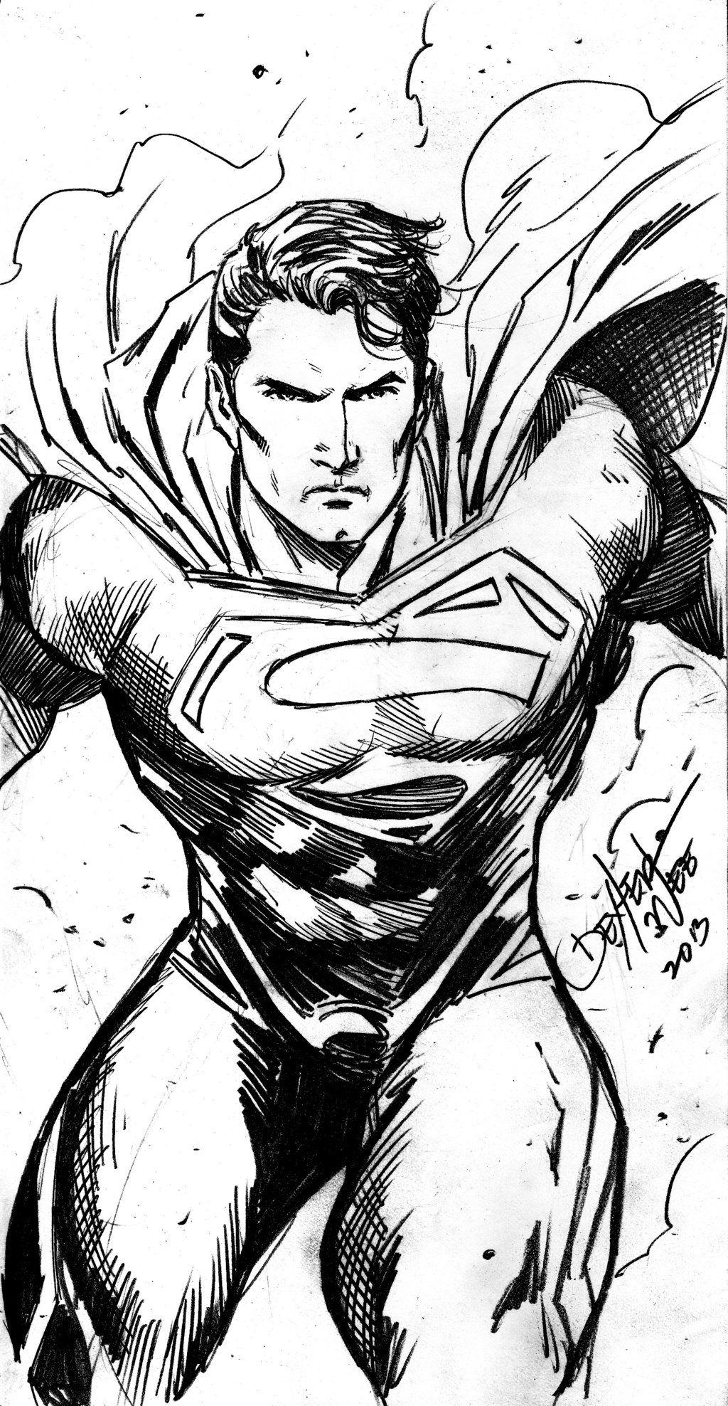 Супермен картинки черно белые