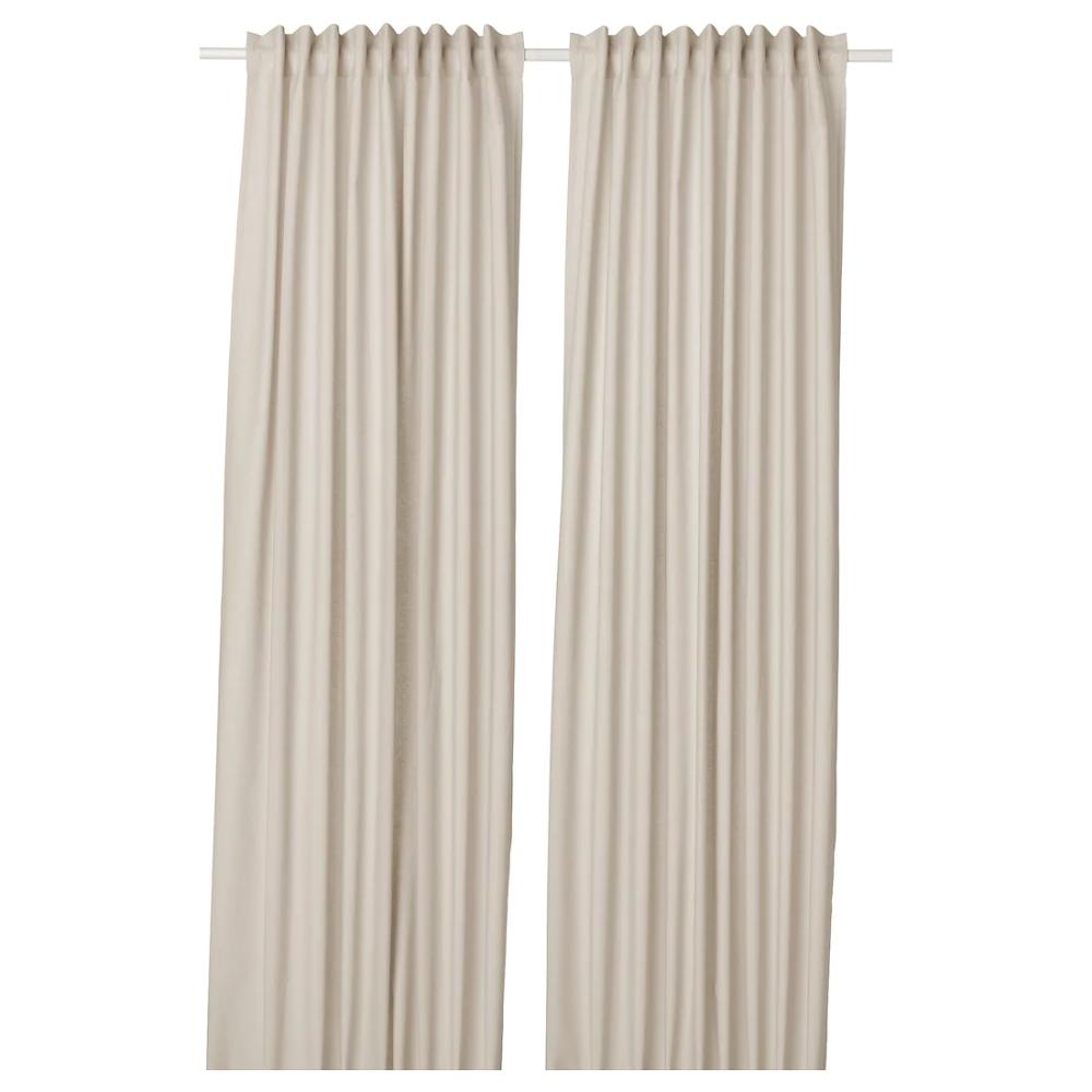 Annalouisa Curtains 1 Pair Beige 57x98 In 2020 Curtains Beige Curtains Curtain Length