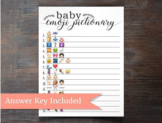 Baby Shower Emoji Pictionary Play This Fun And Unique Baby Shower Game With  Your Friends And