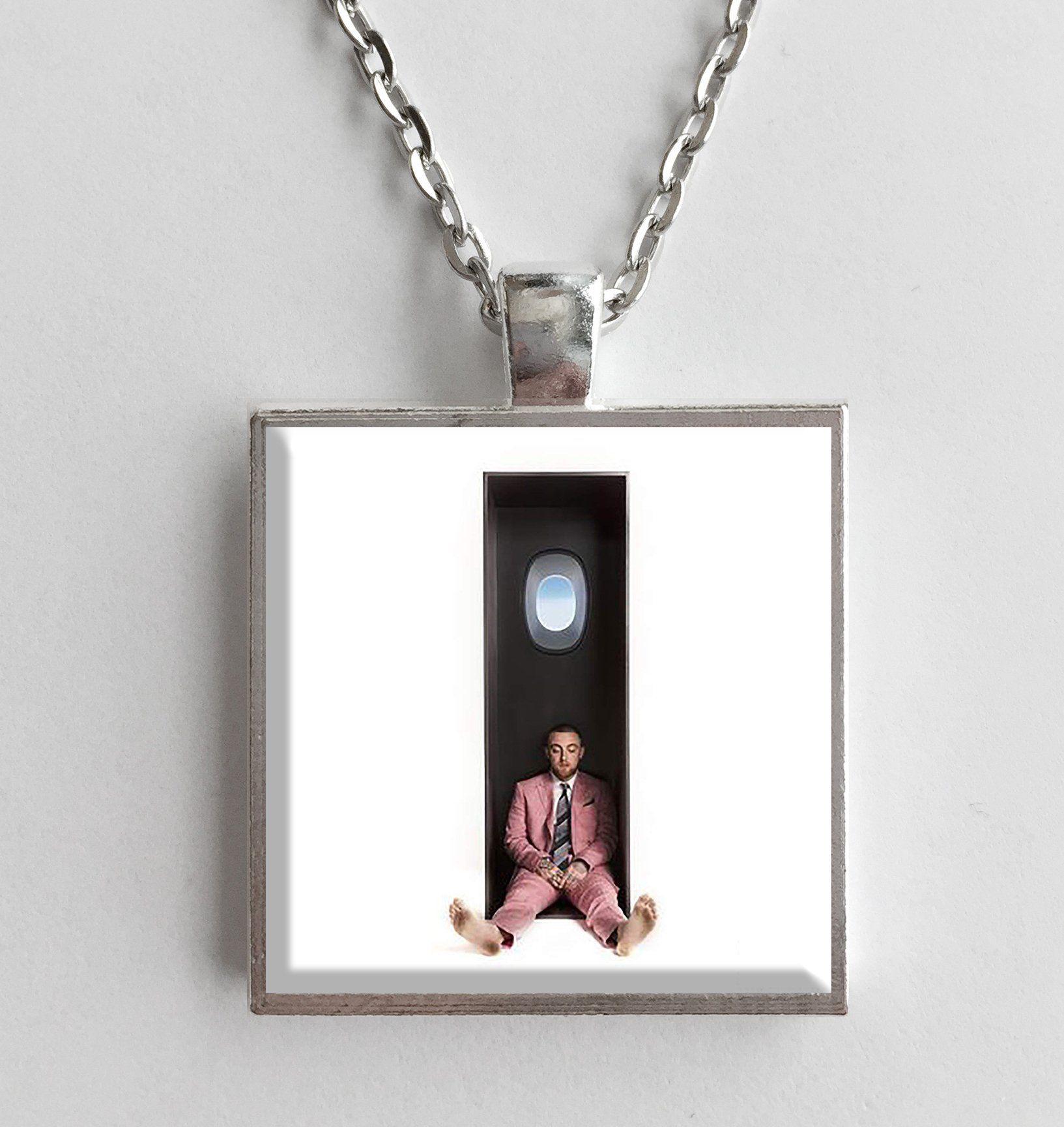 Mac miller swimming album cover art pendant necklace