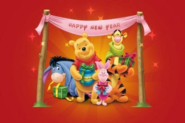 winnie the pooh happy new year wallpapers disney wallpaper hd wallpaper windows wallpaper
