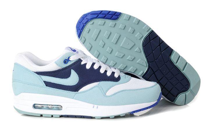 Nike Air Max 1 Femme Chaussures De Course Lumière Jade/Bleu