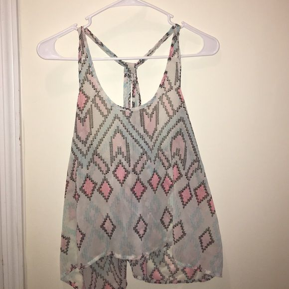 Light pink/ light blue tank top from Aeropostale size large fits like a small Aeropostale Tops Tank Tops