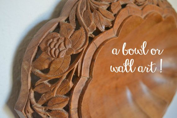 Gorgeous scalloped bowl or wall decor...kind of Balinese or Antique French Country...can't decide.  Natural Neutrals