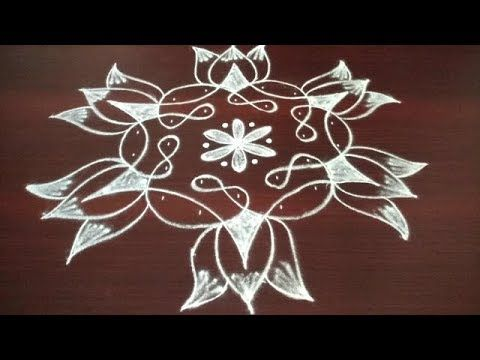 Sikku Kolam With 7 4 Dots Easy And Latest Rangoli Designs Simple