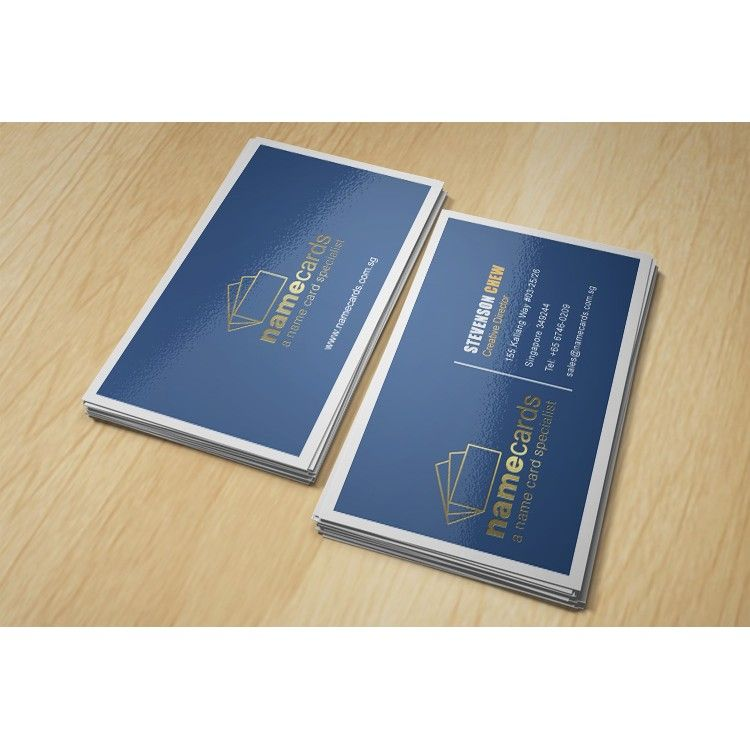Hot Stamp Name Cards - 2 Colour (PMS) Offset Printing, Hot Stamping ...