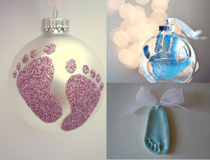 Beautiful Baby Craft Ideas For Christmas Part - 14: Cute Crafts For Babyu0027s First Christmas Ornament Ideas