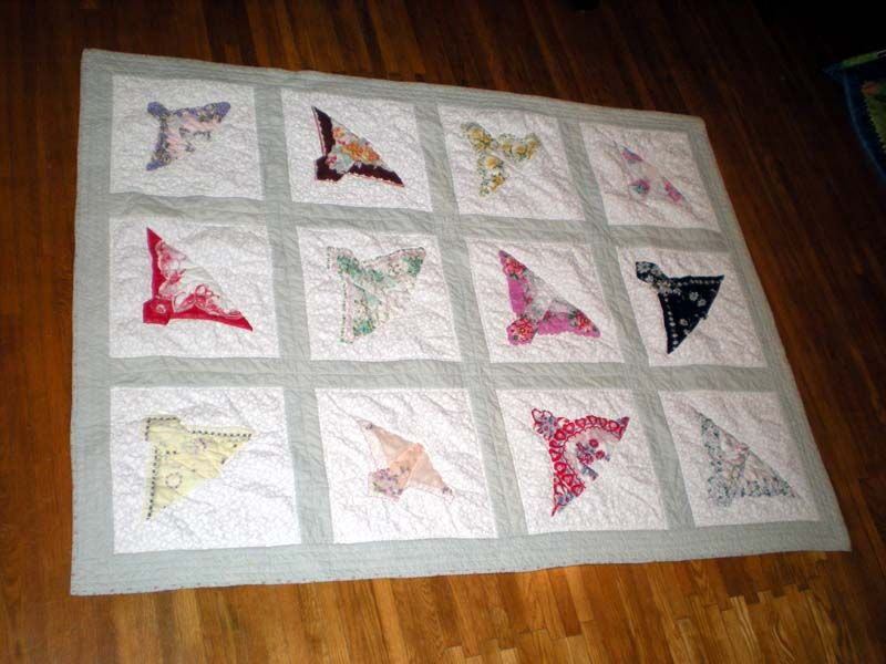 how to fold a hankie into a butterfly - Google Search | All kinds ... : hankie quilt - Adamdwight.com
