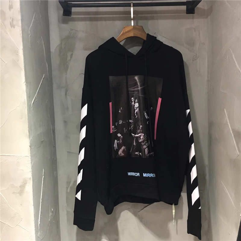 116a8d475 OFF WHITE SEEING THING MIRROR MADONNA RELIGIOUS FIGURE BLACK SWEATSHIRT  #giveawayindonesia #giveawayindo #give