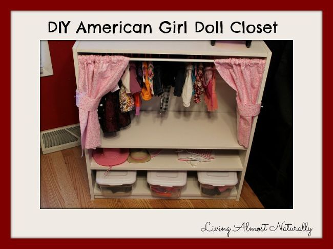 diy american girl doll closet, diy, how to