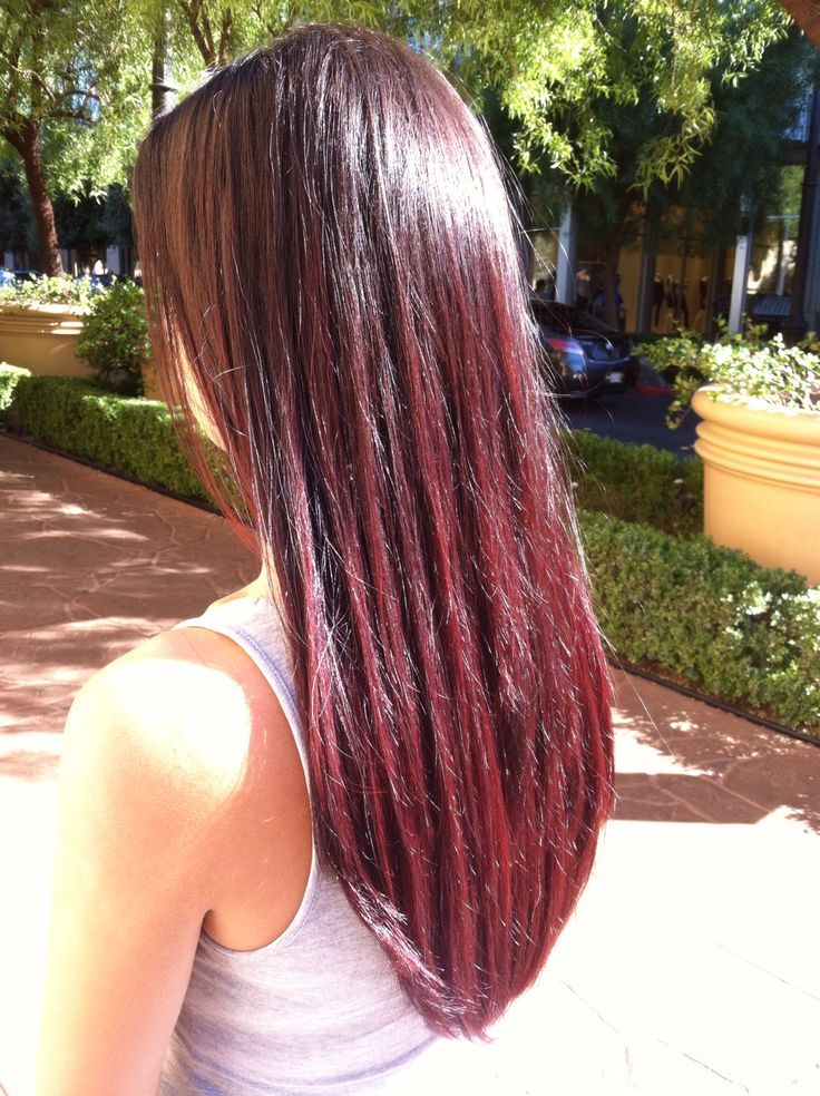 Light Brown Hair With Burgundy Ombre Dark Brown To Burgundy Ombre