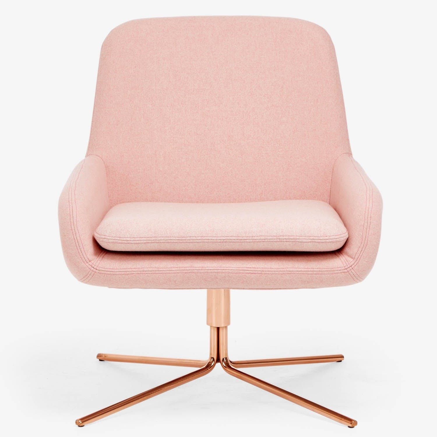 A Glam Home Office With A Pink Modern Office Chair Gold Desk