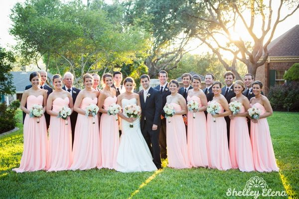 Garden Wedding Inspiration The Story Of Hannah And Her Pretty Peach Pink Bridesmaids