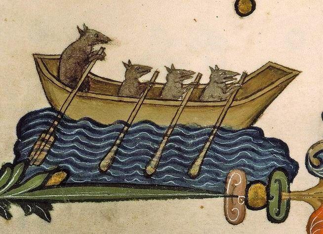 Image result for medieval manuscript rats