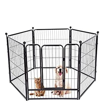 Kimanli Pets Playpen, Pet Dog Playpen Play Yard Foldable ...