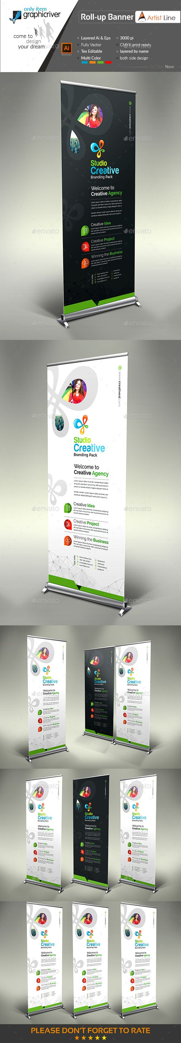Corporate Roll up | Print templates, Banner template and Ai illustrator