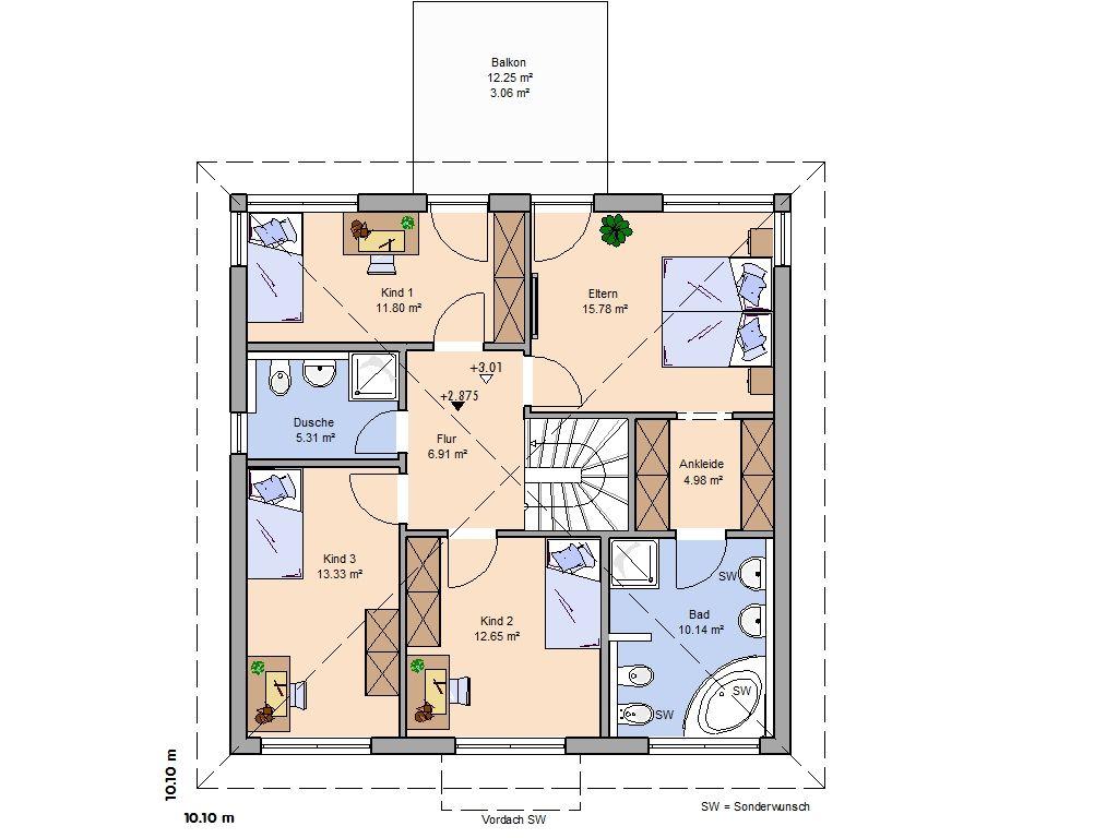 Einfamilienhaus mit 3 zimmer einliegerwohnung im erdgeschoss  Erdgeschoss | Haus | Pinterest | Grundrisse, Erdgeschoss und ...