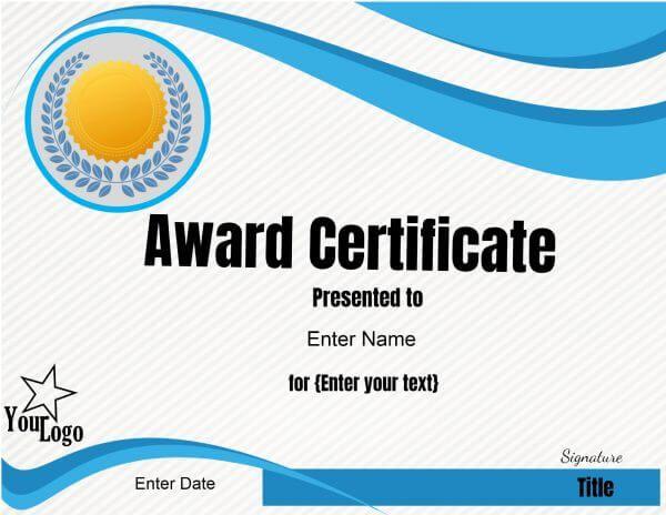 Online Certificates Templates Light Blue  School Awards  Pinterest  Online Certificate Maker .