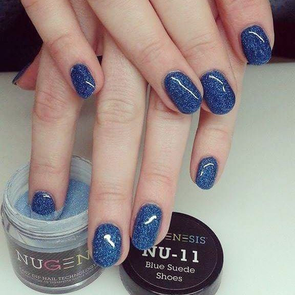 Blue Suede Shoes Sns Nails Colors Nail Dipping Powder Colors