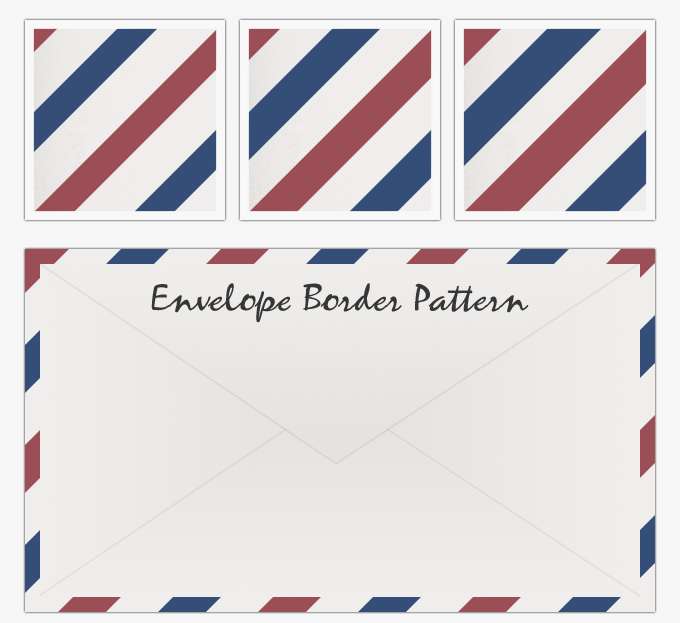 Downloadable Airmail Envelope Pattern