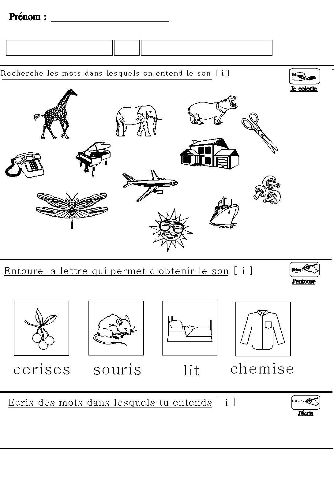 Assez Apprendre à lire en maternelle : le son [i] pour maternelle grande  LQ31