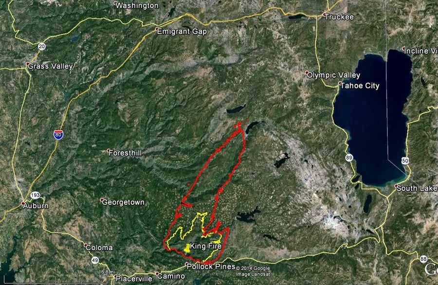 California king fire near pollock pines in 2020 pollock