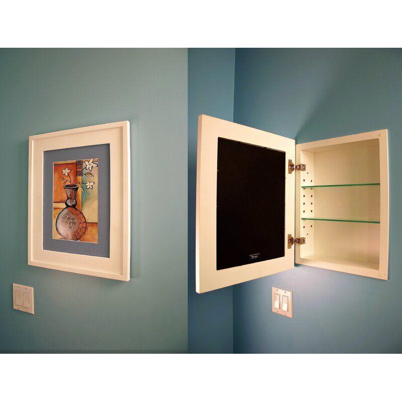 14 W X 18 H Recessed Framed 1 Door Medicine Cabinet With 2 Adjustable Shelves In 2021 Recessed Medicine Cabinet Medicine Cabinet Mirror Adjustable Shelving 14 x 18 recessed medicine cabinet