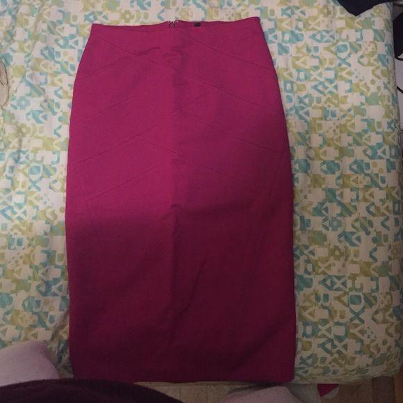 Pink high waisted midi skirt Pink high waisted midi skirt Express Skirts Midi
