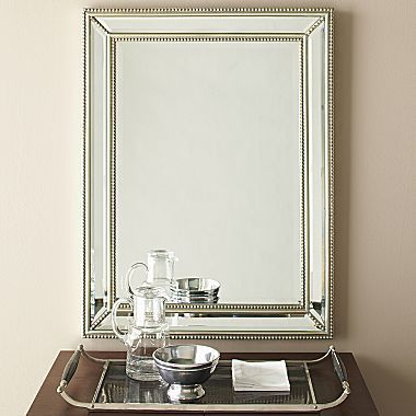 Pearl Beaded Mirror Jcpenney Beaded Mirror Powder Room Mirror