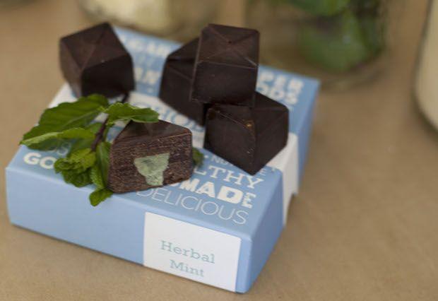 Box of Vegan Herbal Mint Truffles