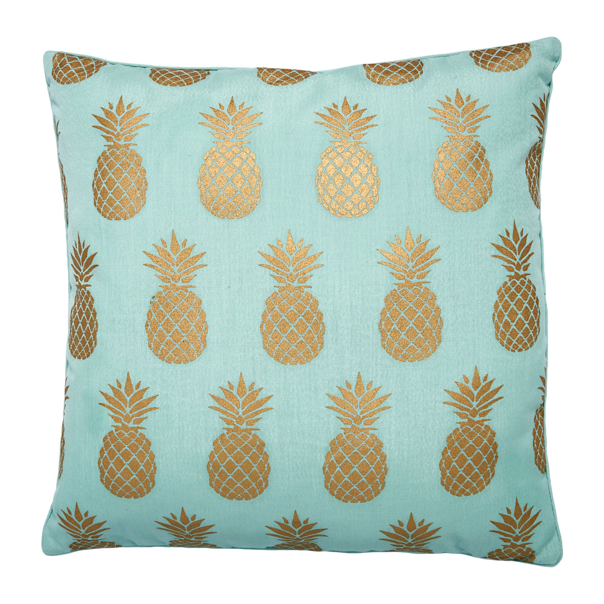 x pineapple gold cover products pillow