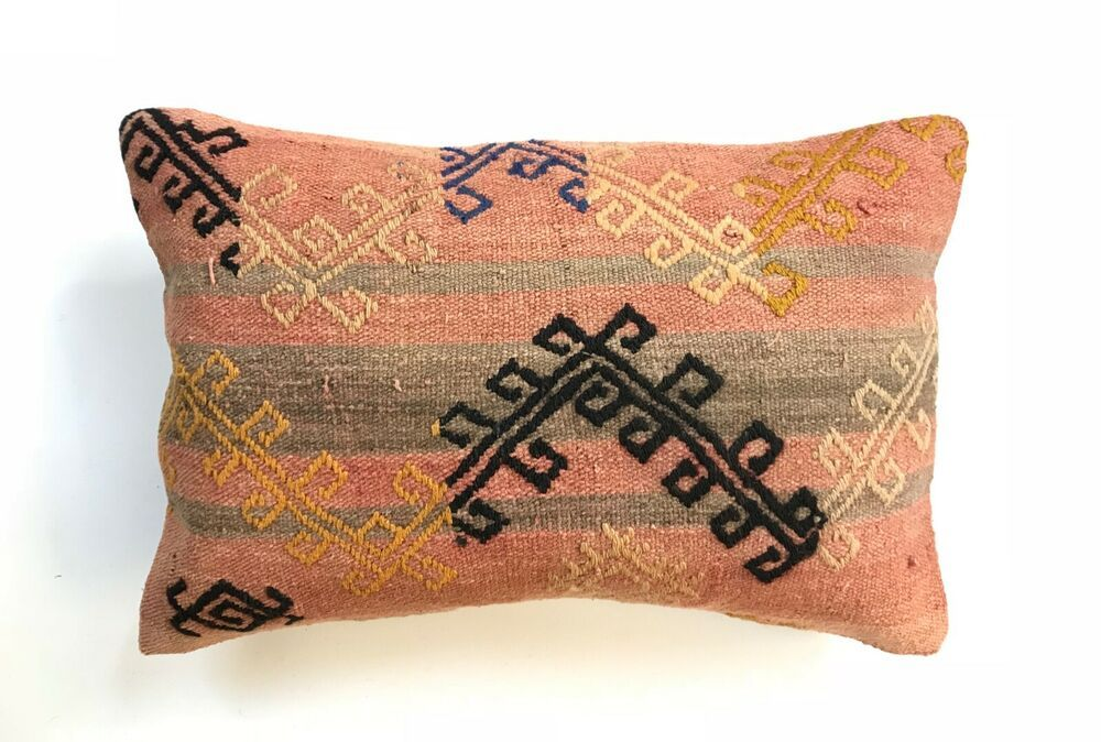 Turkisch Kelim Kissenbezug 40 X 60 Cm Vintage Kilim Cushion Covers
