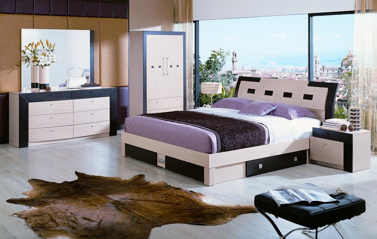 VIG Furniture Concorde Modern Queen Bed With Storage Set