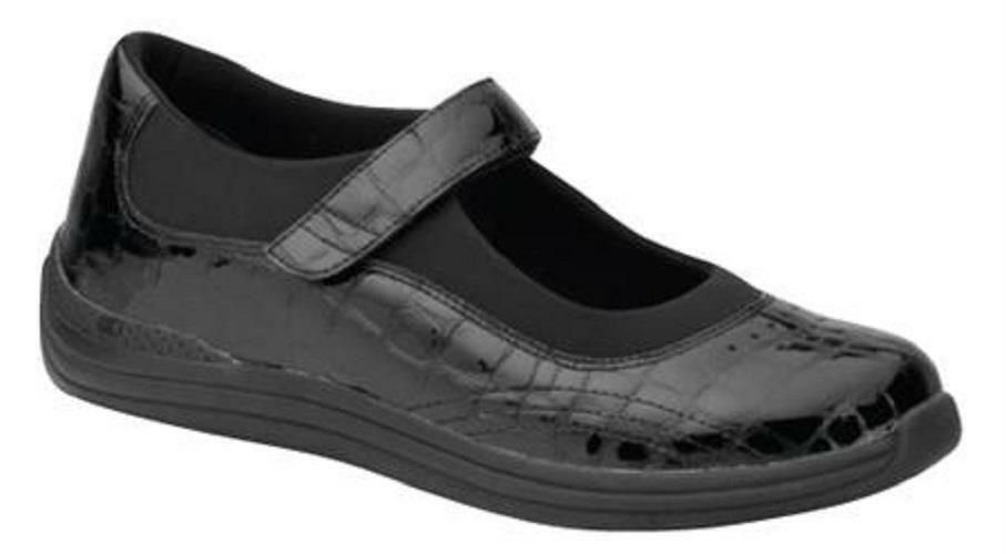 4c26de035b19  160 Drew Shoes ROSE Womens Mary Janes 10W Wide Black Orthotic Diabetic  Walking  Drew  MaryJanes