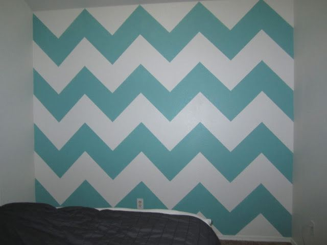 Paint A Chevron Wall Thinking About Redoing My Room With Bedding Mint Green Yellowish Toned Down Mustard Color Gray And White